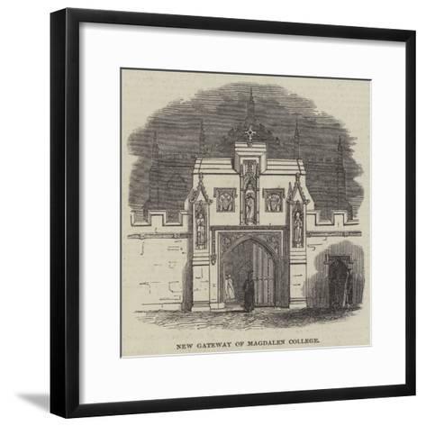 New Gateway of Magdalen College--Framed Art Print