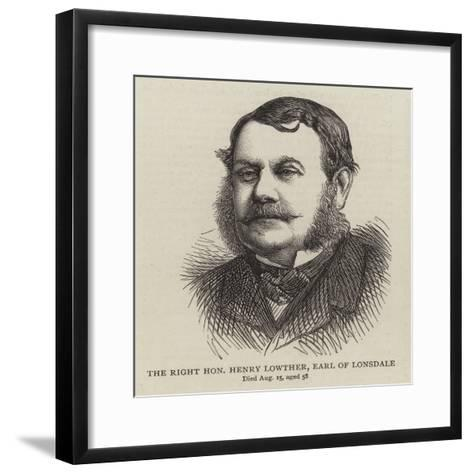 The Right Honourable Henry Lowther, Earl of Lonsdale--Framed Art Print