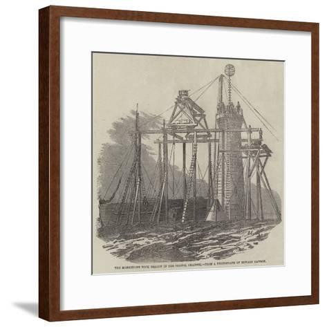 The Monkstone Rock Beacon in the Bristol Channel--Framed Art Print