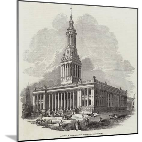Town-Hall, in Course of Erection, at Leeds--Mounted Giclee Print