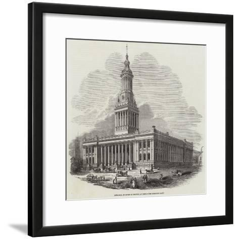 Town-Hall, in Course of Erection, at Leeds--Framed Art Print