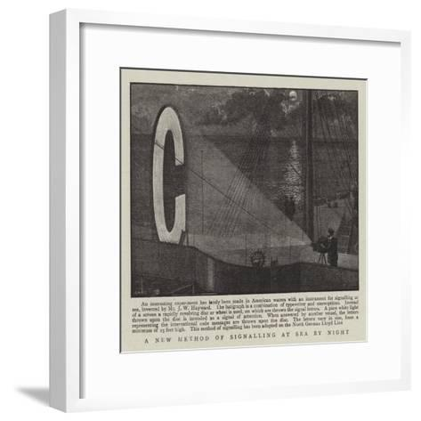 A New Method of Signalling at Sea by Night--Framed Art Print