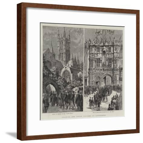 Colonial and Indian Visitors at Canterbury--Framed Art Print