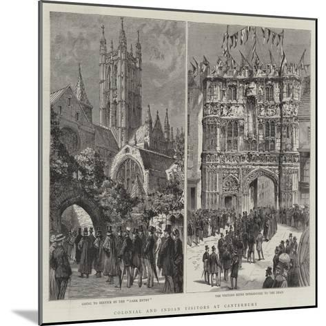 Colonial and Indian Visitors at Canterbury--Mounted Giclee Print