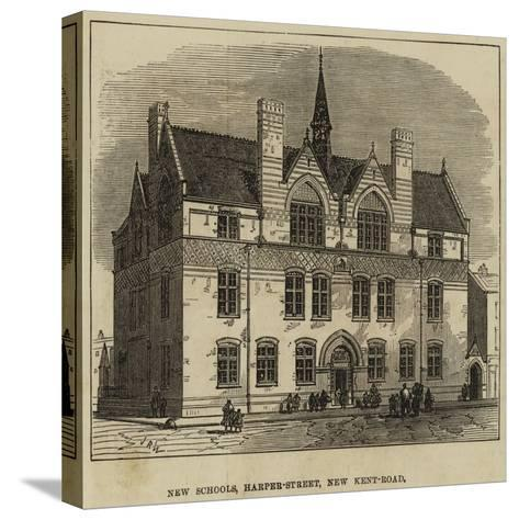 New Schools, Harper-Street, New Kent-Road--Stretched Canvas Print