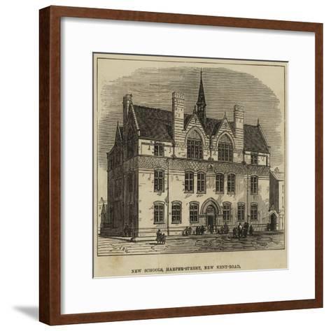 New Schools, Harper-Street, New Kent-Road--Framed Art Print