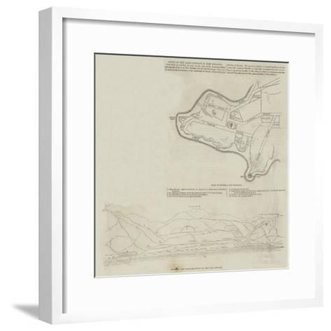 Scene of the Late Conflict in New Zealand--Framed Art Print