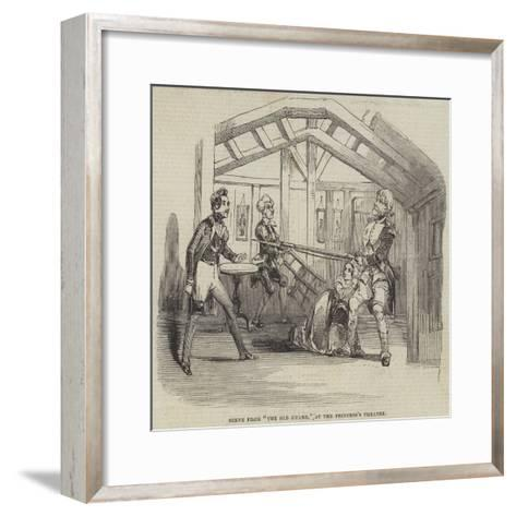 Scene from The Old Guard, at the Princess's Theatre--Framed Art Print