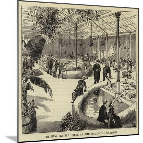 The New Reptile House at the Zoological Gardens--Mounted Giclee Print