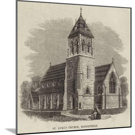 St Luke's Church, Maidenhead--Mounted Giclee Print