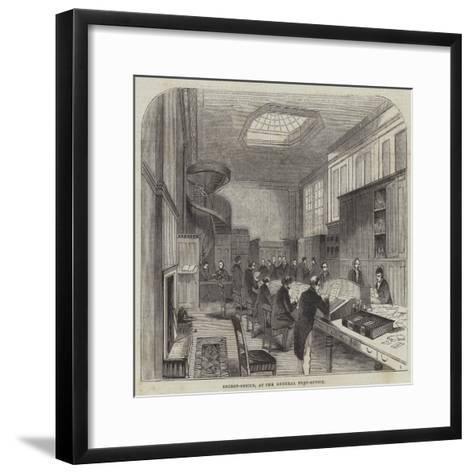 Secret-Office, at the General Post-Office--Framed Art Print