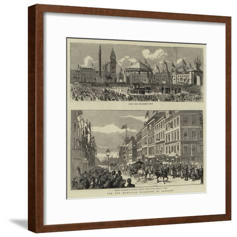 The New Municipal Buildings at Glasgow--Framed Art Print
