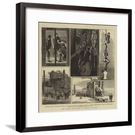 The Fatal Explosion at Seaham Colliery--Framed Art Print