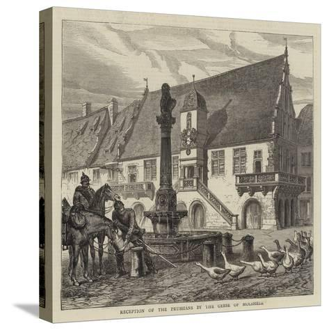 Reception of the Prussians by the Geese of Molsheim--Stretched Canvas Print