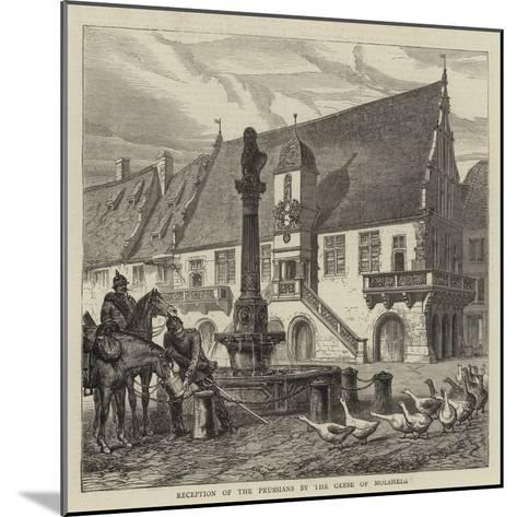 Reception of the Prussians by the Geese of Molsheim--Mounted Giclee Print