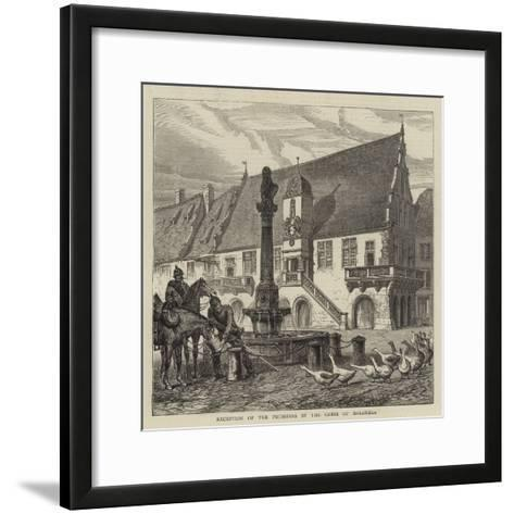 Reception of the Prussians by the Geese of Molsheim--Framed Art Print