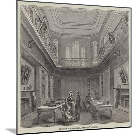 The New Record-Room, Heralds' College--Mounted Giclee Print