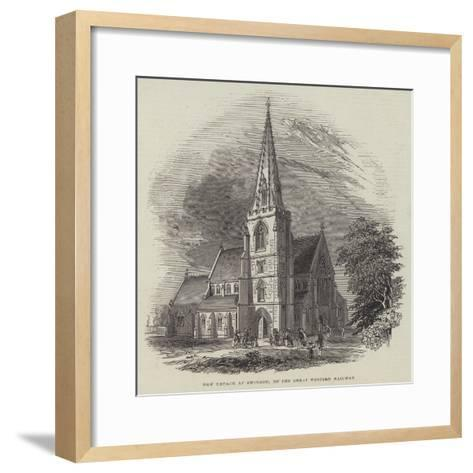 New Church at Swindon, on the Great Western Railway--Framed Art Print