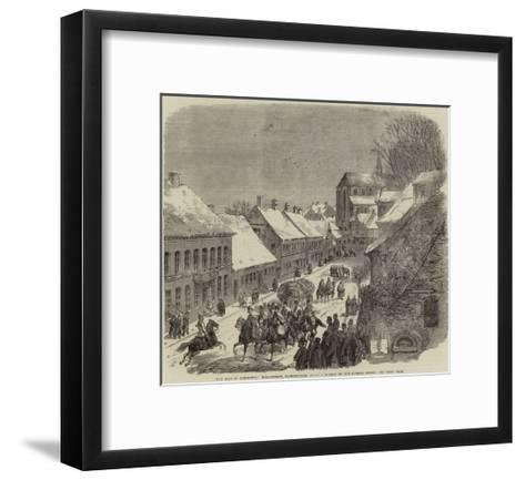 The War in Schleswig, High-Street, Hadersleben--Framed Art Print