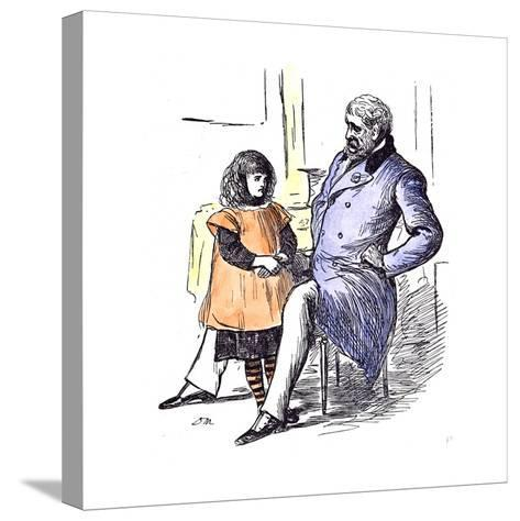 Girl with Grandfather, 1873--Stretched Canvas Print