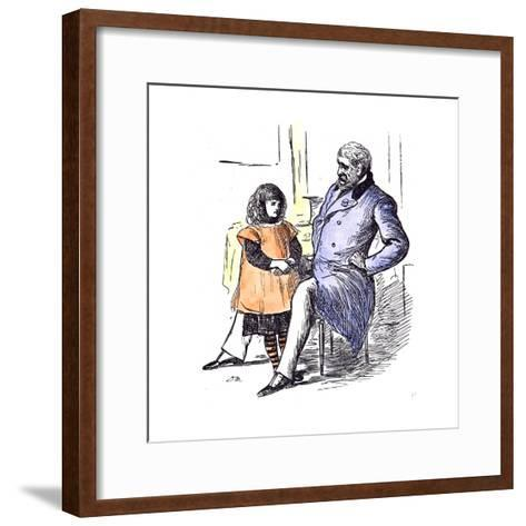 Girl with Grandfather, 1873--Framed Art Print