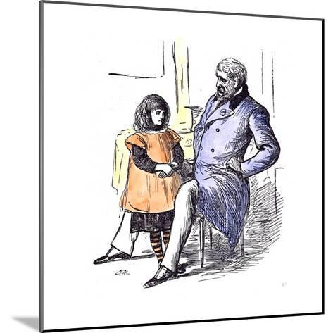 Girl with Grandfather, 1873--Mounted Giclee Print