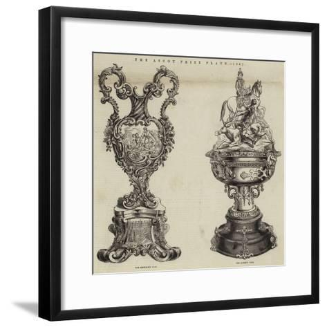 The Ascot Prize Plate, 1847--Framed Art Print