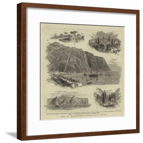 Visit of the Ex-Empress Eugenie to St Helena--Framed Art Print