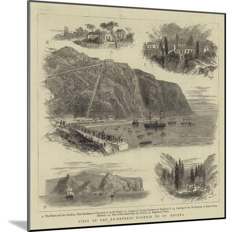 Visit of the Ex-Empress Eugenie to St Helena--Mounted Giclee Print