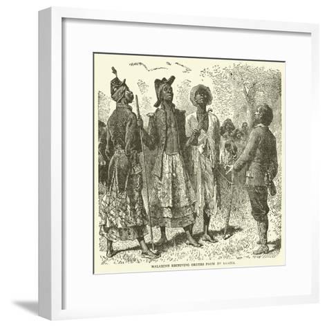 Malamine Receiving Orders from De Brazza--Framed Art Print