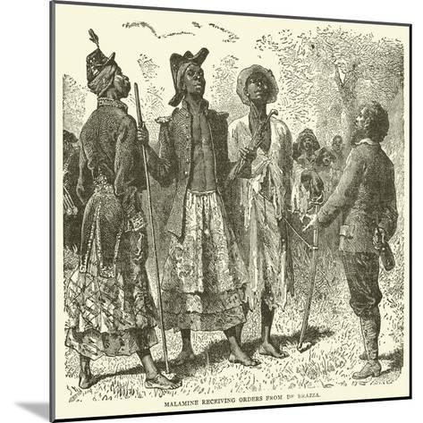 Malamine Receiving Orders from De Brazza--Mounted Giclee Print