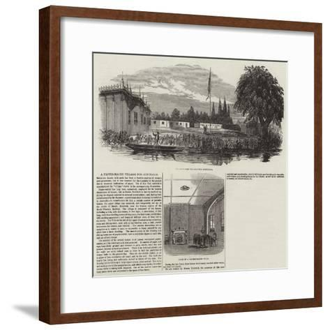 A Papier-Mache Village for Australia--Framed Art Print