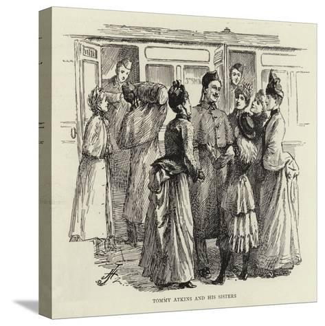 Studies of Life and Character at a Railway Station--Stretched Canvas Print