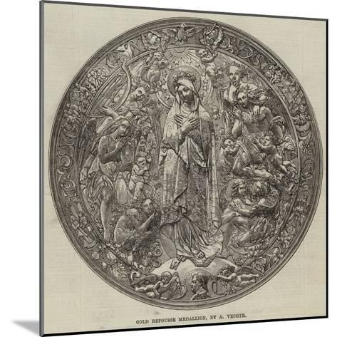 Gold Repousse Medallion, by a Vechte--Mounted Giclee Print