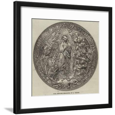 Gold Repousse Medallion, by a Vechte--Framed Art Print