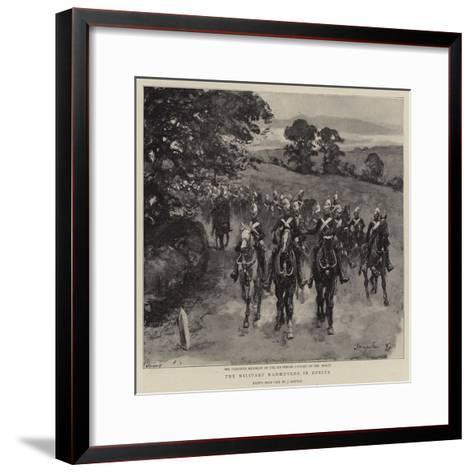 The Military Manoeuvres in Sussex--Framed Art Print