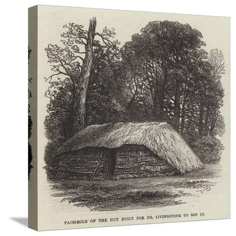 Facsimile of the Hut Built for Dr Livingstone to Die In--Stretched Canvas Print