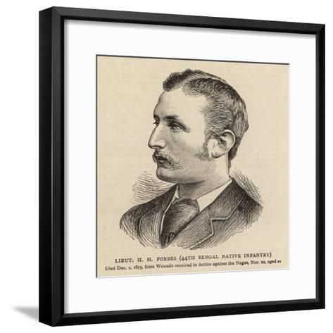 Lieutenant H H Forbes, 44th Bengal Native Infantry--Framed Art Print