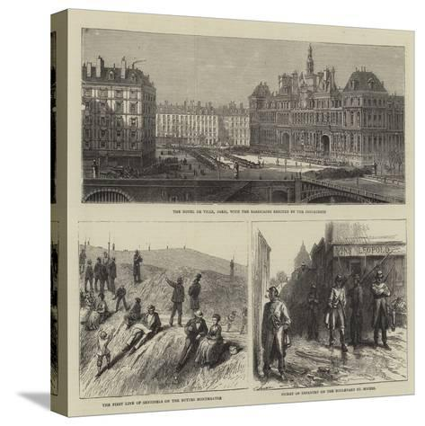 Sketches in Paris--Stretched Canvas Print