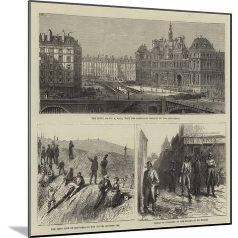 Sketches in Paris--Mounted Giclee Print