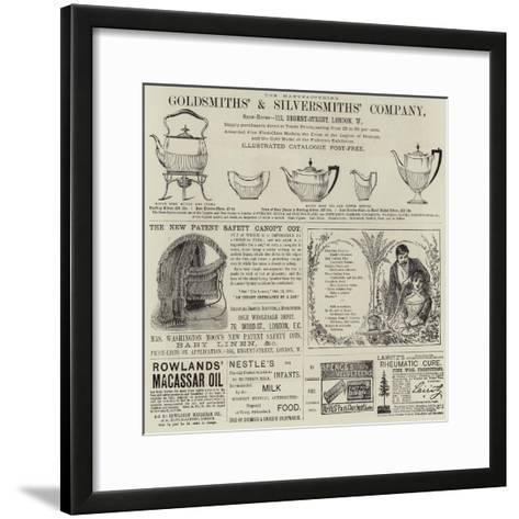 Advertisements--Framed Art Print