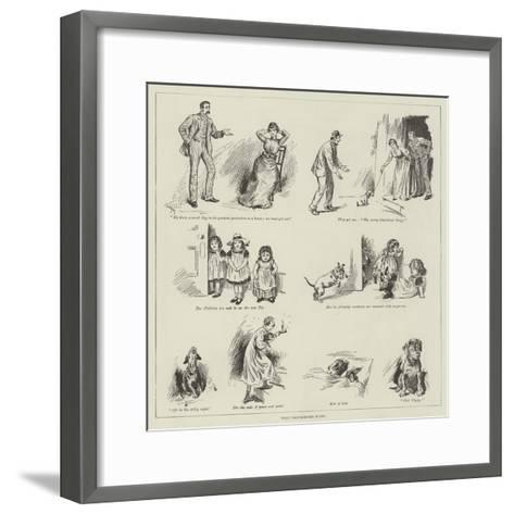 That Troublesome Puppy--Framed Art Print