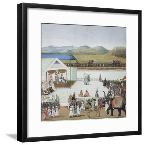 The Turkish Sultan Bayazid Brought Captive before Timur, C.1850--Framed Art Print