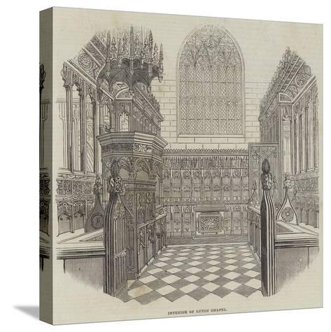 Interior of Luton Chapel--Stretched Canvas Print