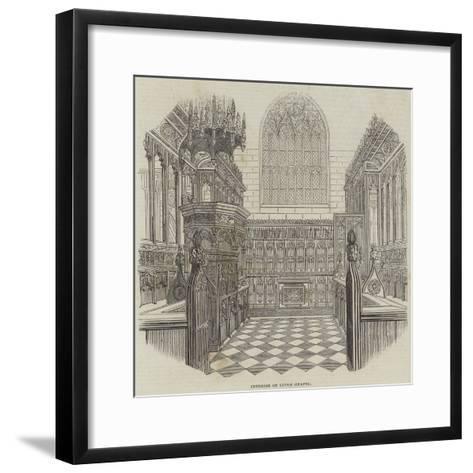 Interior of Luton Chapel--Framed Art Print