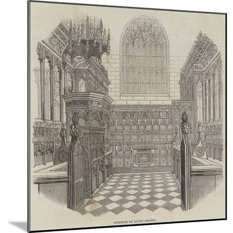 Interior of Luton Chapel--Mounted Giclee Print