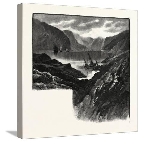 Entrance to Saguenay River, Canada, Nineteenth Century--Stretched Canvas Print