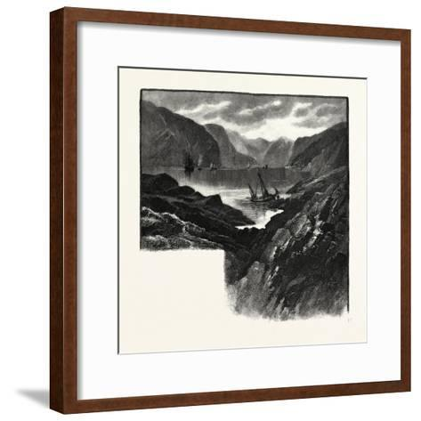 Entrance to Saguenay River, Canada, Nineteenth Century--Framed Art Print