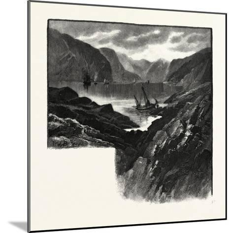 Entrance to Saguenay River, Canada, Nineteenth Century--Mounted Giclee Print