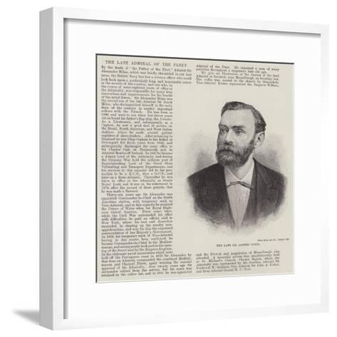 The Late Mr Alfred Nobel--Framed Art Print